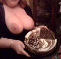 Boobs McGee with Cake