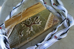 Our handfasting ceremony journal and ribbons