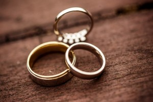 three wedding rings