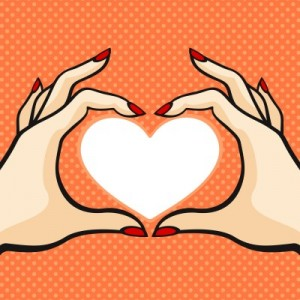 comic hands heart