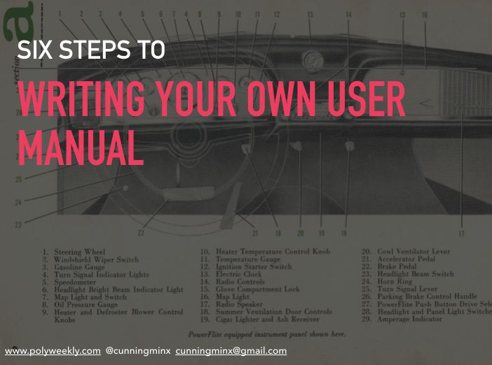 writing your own user manual cover slide